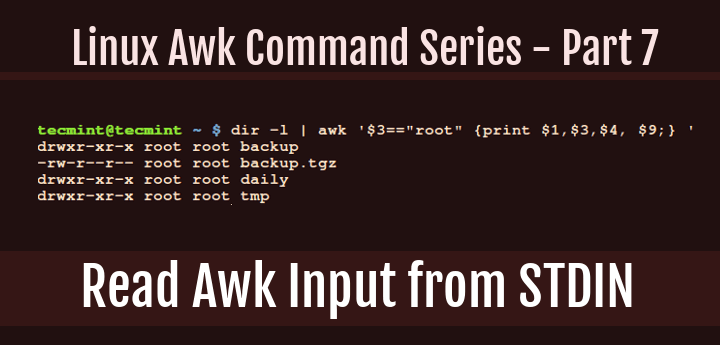 Read Awk Input from STDIN