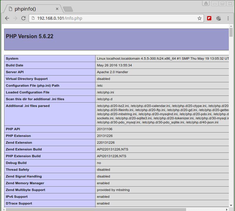 Verify PHP Information