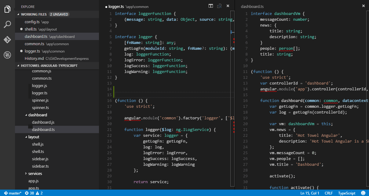Visual Studio Code Editor