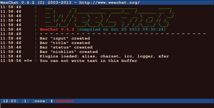 WeeChat IRC Client for Linux