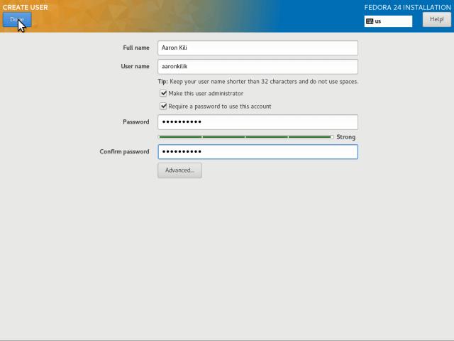 Create Admin User Account