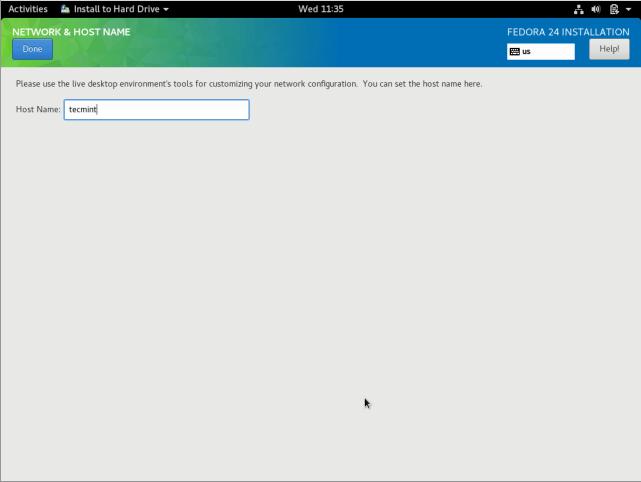 Configure Network Hostname