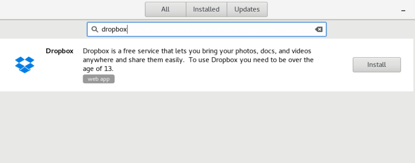 Install Dropbox in Fedora 24