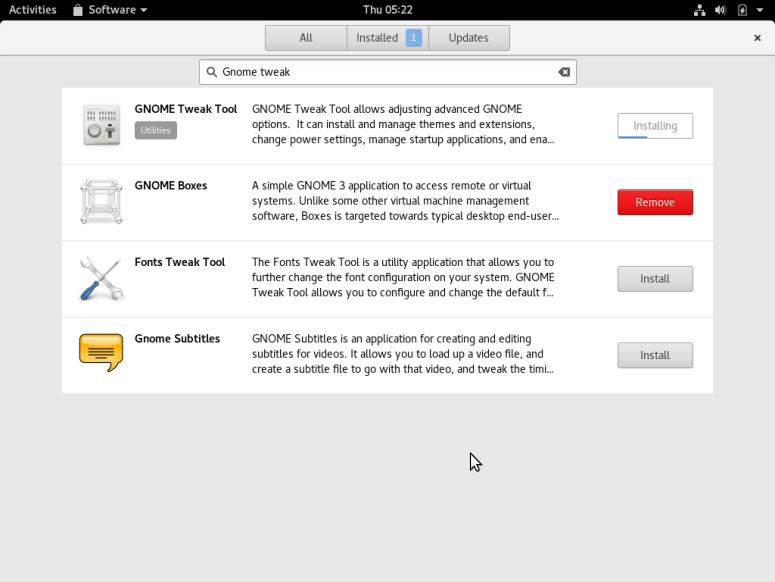 Install Gnome Tweak in Fedora 24