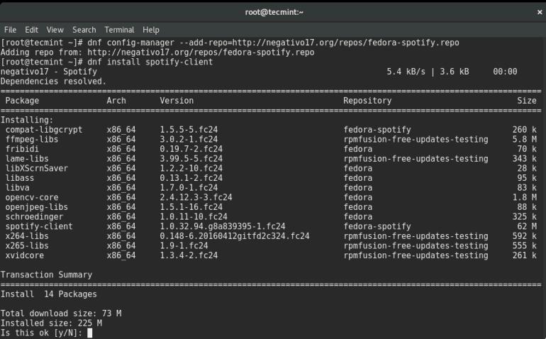 install spotify fedora