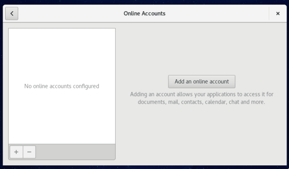Fedora 24 Online Accounts