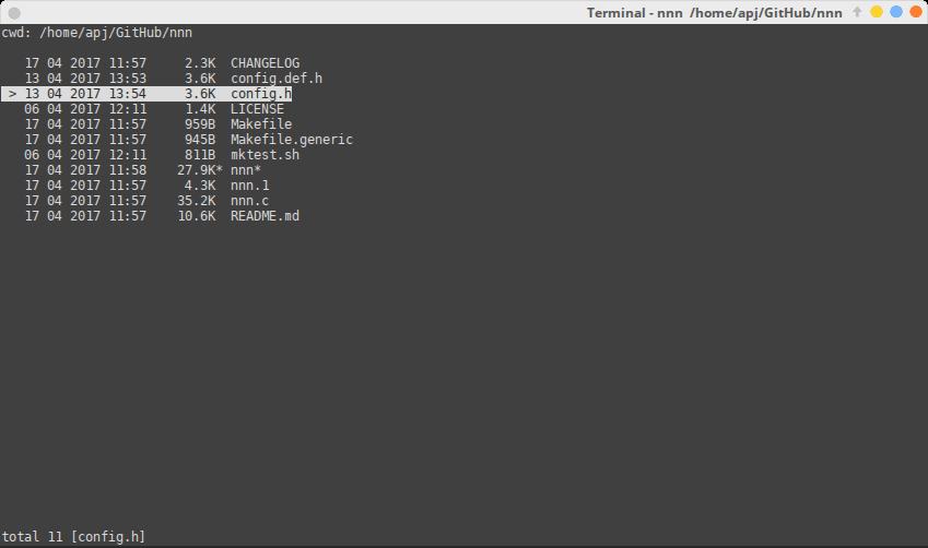 nnn - Terminal File Manager