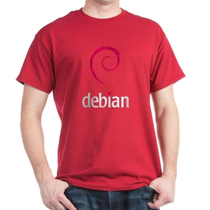 CafePress Debian Linux Dark T-Shirt