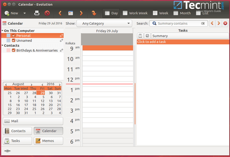 6 best calendar apps for linux desktop. Black Bedroom Furniture Sets. Home Design Ideas