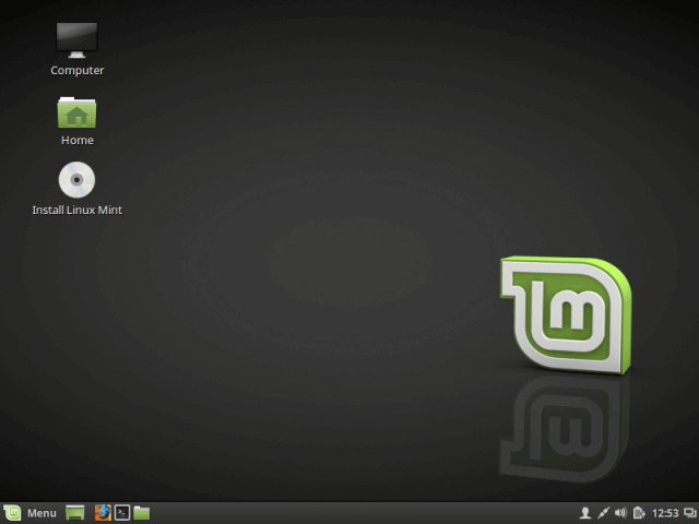 """Click on """"Install Linux Mint"""" Icon"""
