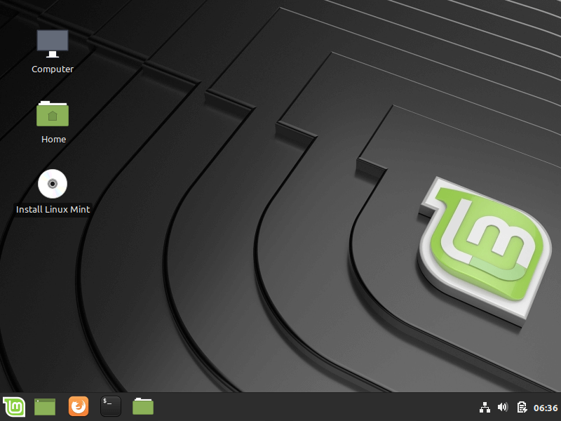 Nhấp vào Cài đặt Linux Mint