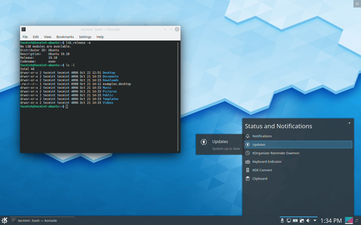 KDE Plasma Notifications Window