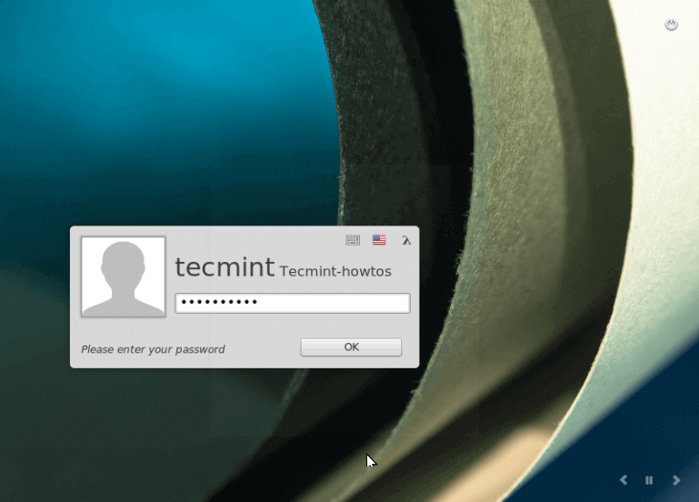 Linux Mint 18 Login Screen