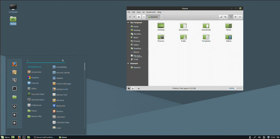 Adapta Theme on Linux Mint 18