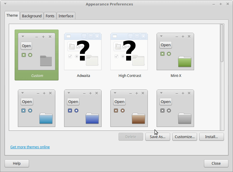 Linux Mint Appearance