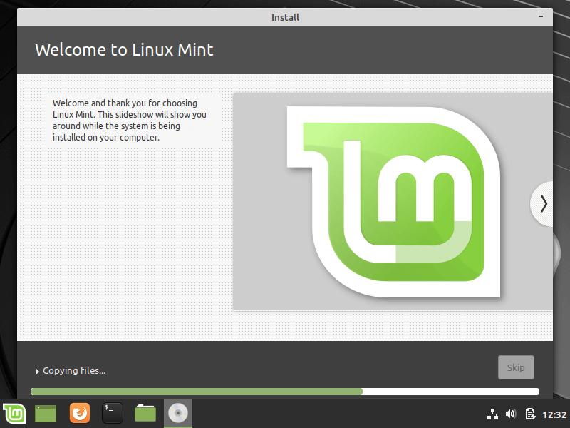 Quá trình cài đặt Linux Mint