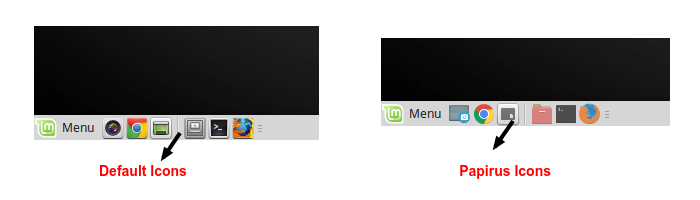 Before or After Icons on Linux Mint 18
