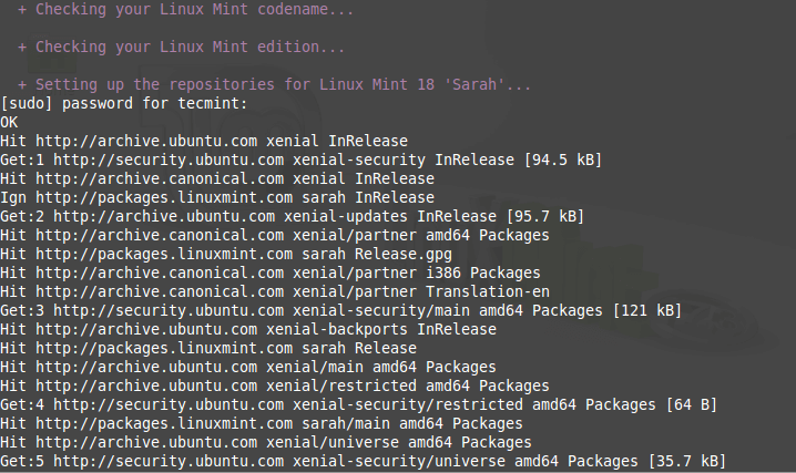 Linux Mint Upgrade Command