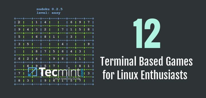 Linux Terminal Console Games