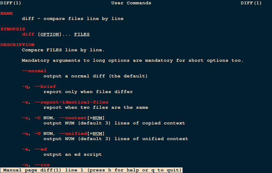Linux diff Command to Compare Files
