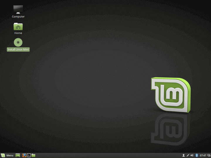Select Install Linux Mint
