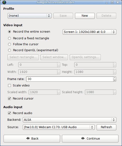 SimpleScreenRecorder dla systemu Linux