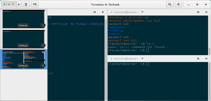 Terminix Terminal Emulator for Linux