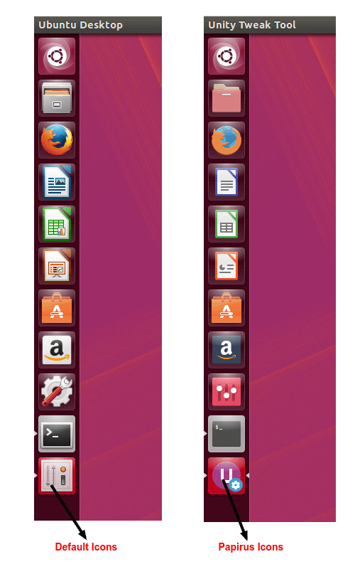 Before and After Icons on Ubuntu 16.04