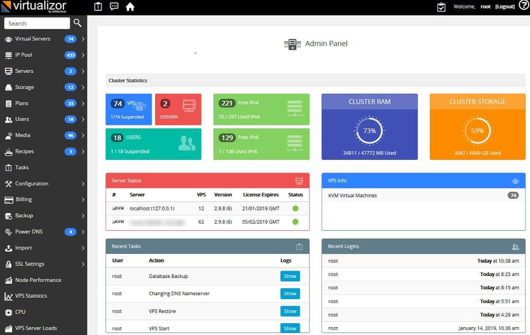 Virtualizor - VPS Control Panel