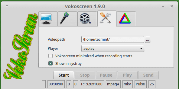 Vokoscreen for Linux