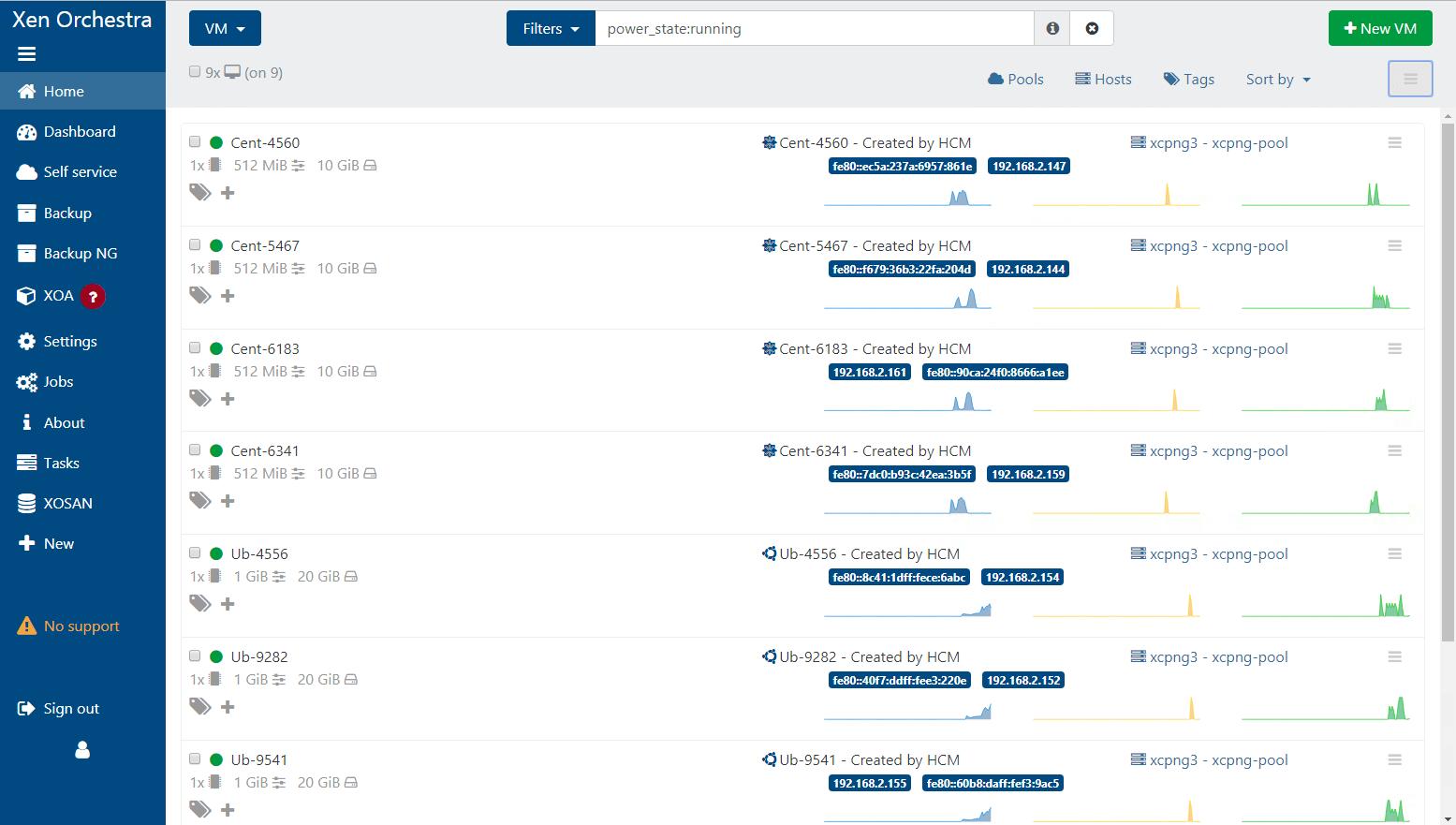 Xen Orchestra - Control Panel for Xen Server