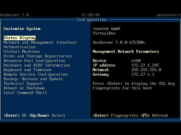 XenServer 7 Configuration Console