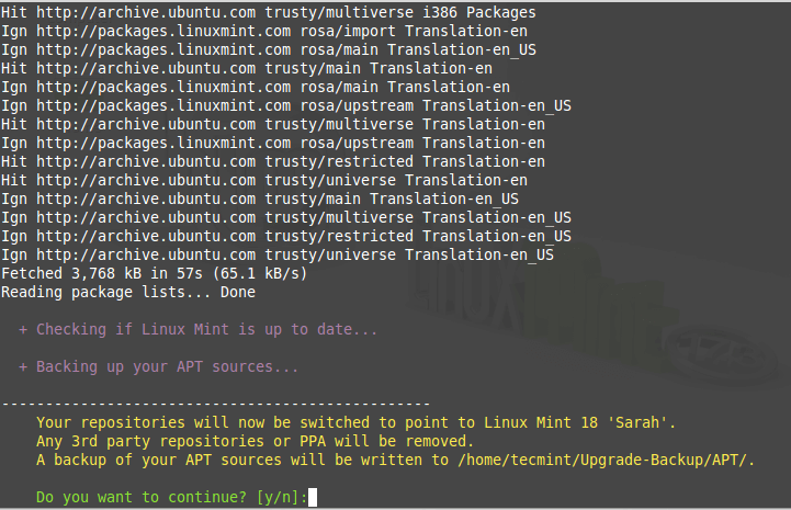 Linux Mint Upgrade Process