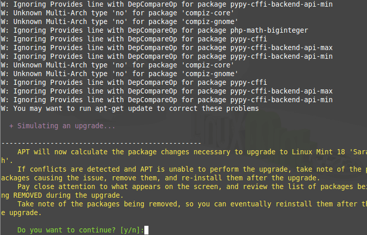 Calculating Linux Mint Upgrade Packages