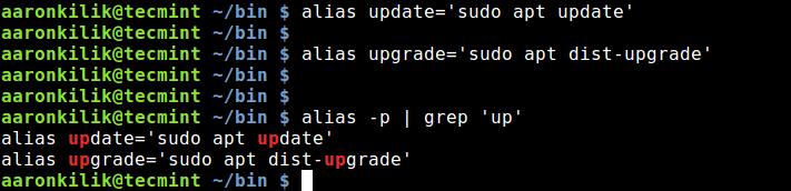 Create Aliases in Linux