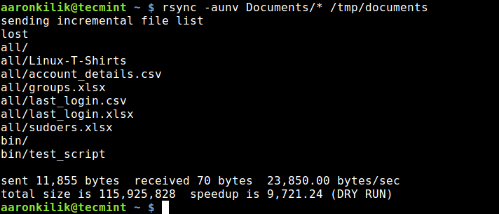 Dry Run Rsync Before Syncing Files