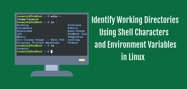Identify Working Directories Using Shell Characters and Environment Variables