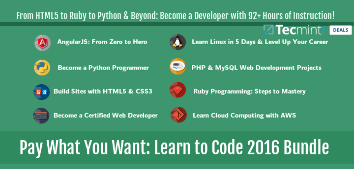 Pay What You Want: Learn to Code 2016 Bundle