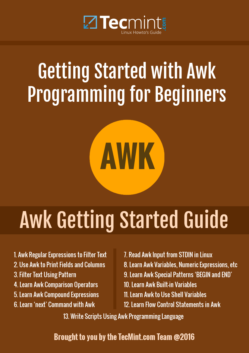 Introducing the Awk Getting Started Guide for Beginners
