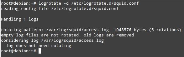 Rotate Squid Logs with Logrotate