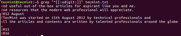 Grep - Search Hexadecimal Digits in File