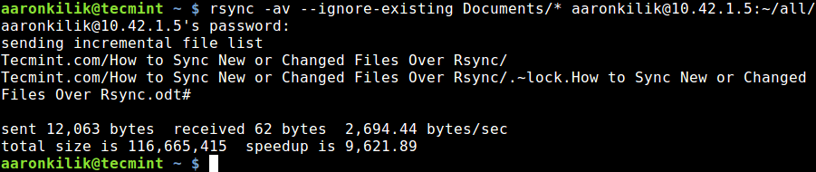 Sync Files Local to Remote Linux