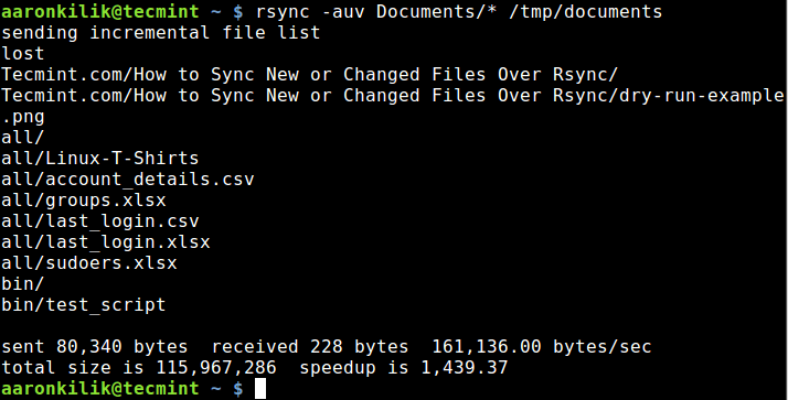 Sync Updated Files