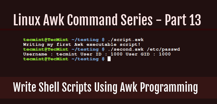 Write Shell Scripts in Awk