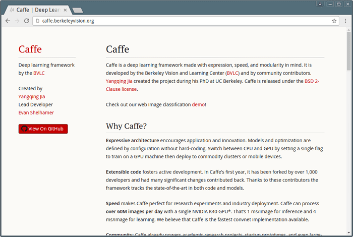 Caffe - Deep Learning Framework