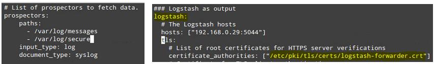 Configure Filebeat in Client Servers