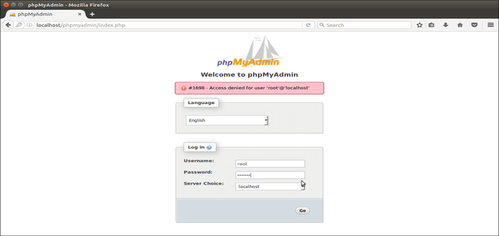 Disable Root Login Access to PhpMyAdmin