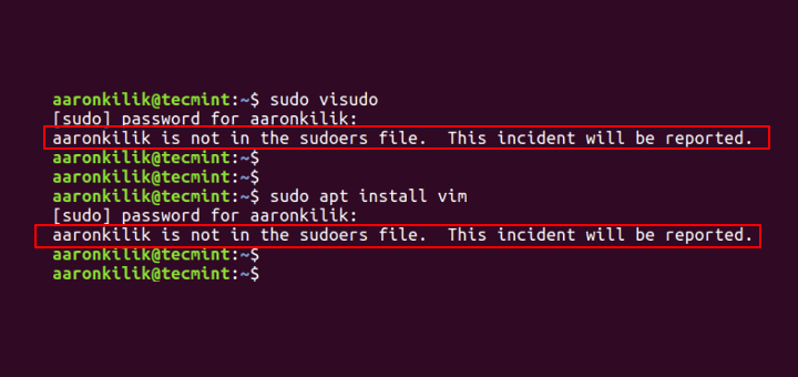 Fix Username is not in the sudoers file in Ubuntu