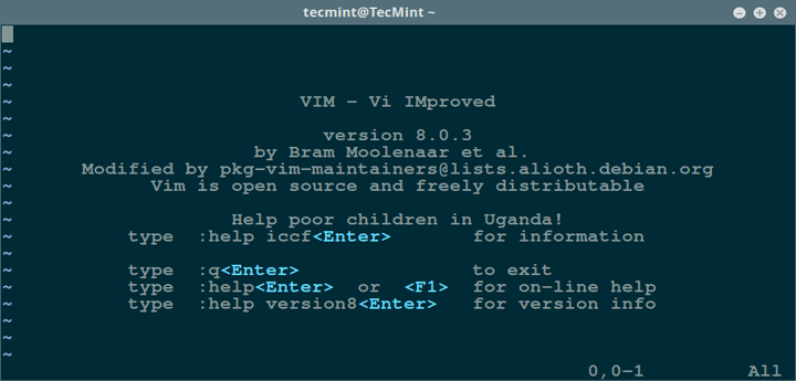 Install Vim 8.0 in Linux