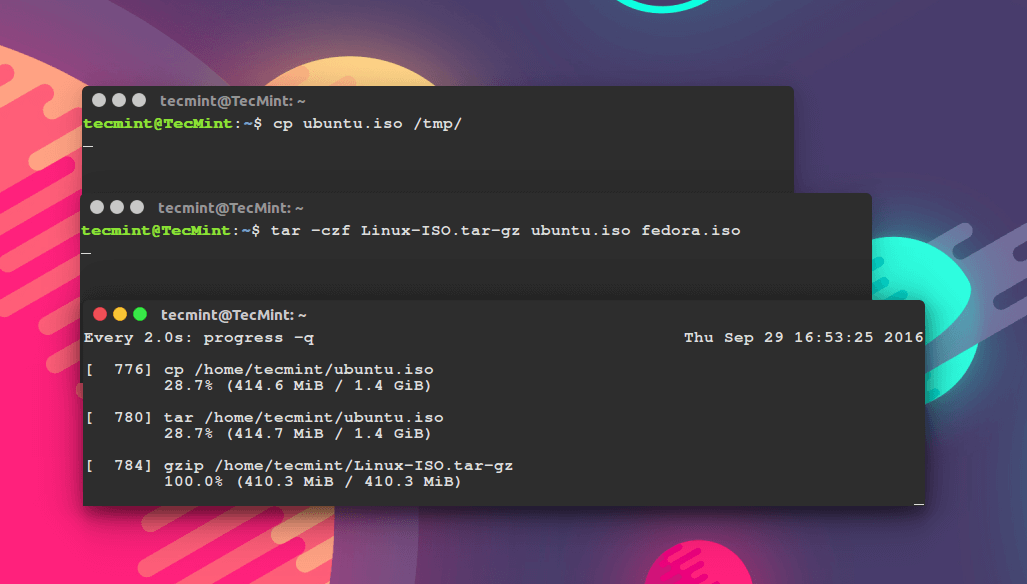 Monitor Progress of Running Commands